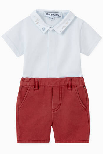 hover state of Ruffle Linen Shorts
