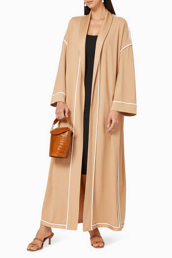 hover state of Contrast Piping Reversible Abaya
