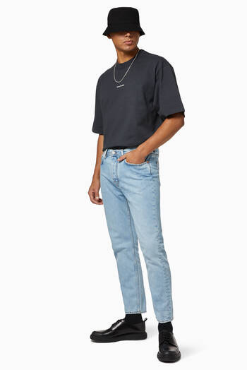 hover state of Slim-Fit Tapered Denim Jeans
