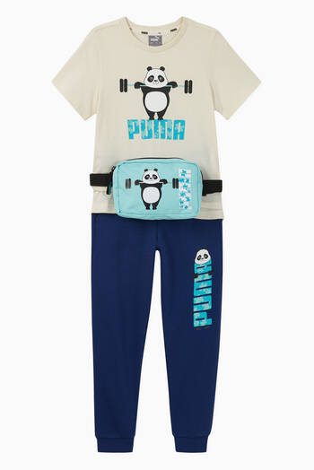hover state of Paw Panda Jersey Sweatpants