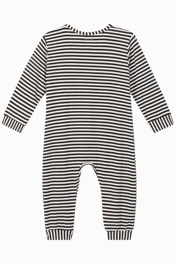 hover state of Toto Striped Jersey Romper