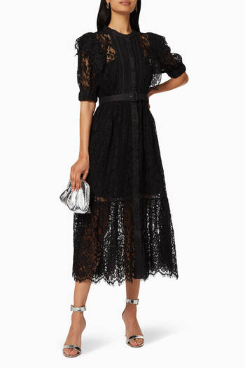 hover state of Lace Midi Dress