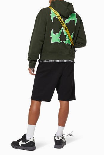 hover state of Bolt Arrows Oversized Cotton Hoodie