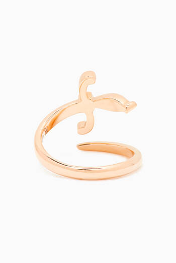 hover state of Swords of Love Diamond Knuckle Ring in 18kt Rose Gold