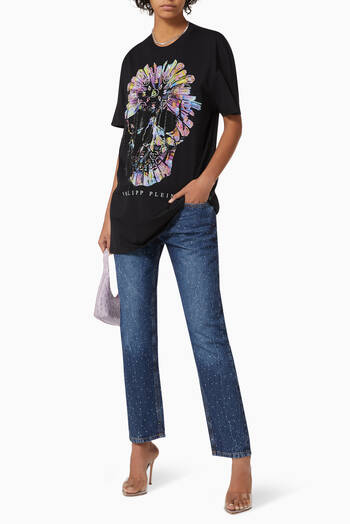 hover state of Crystal Boyfriend Jeans in Denim