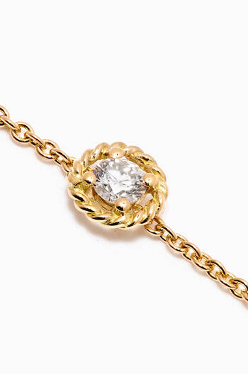 hover state of Salasil Bracelet with Diamond in 18kt Yellow Gold, Small