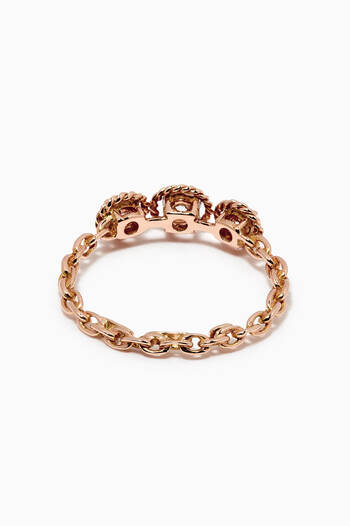 hover state of Salasil Trio Diamond Ring in 18kt Rose Gold