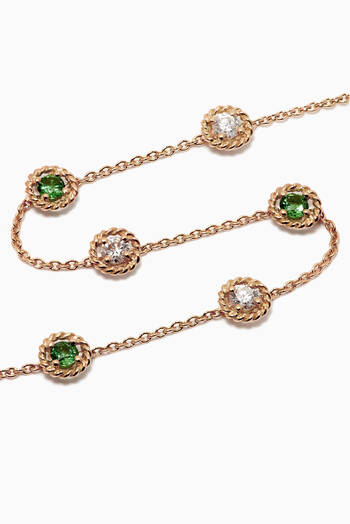 hover state of Salasil Diamond Bracelet with Tsavorite in 18kt Yellow Gold