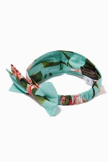 hover state of Hairband in Floral Print Cotton Poplin