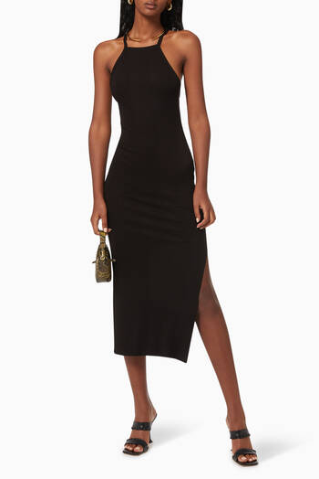 hover state of Halterneck Midi Dress