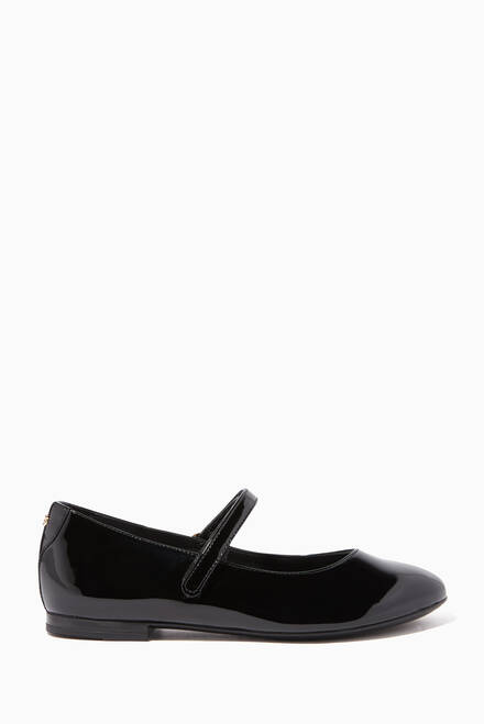 hover state of Vernice Leather Ballet Flats