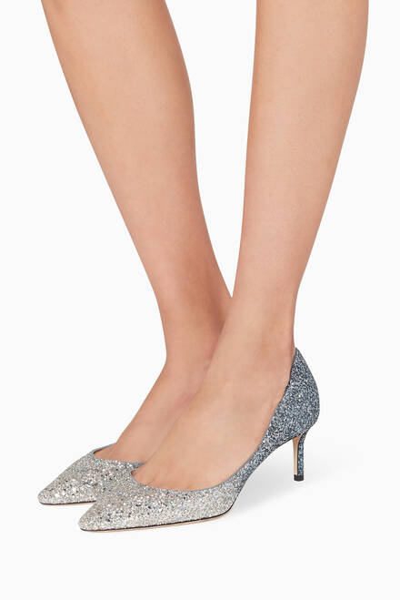 hover state of Romy 60 Glitter Dégradé Pumps