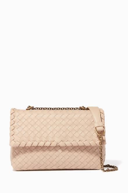 e3f39711b0be7 Shop Bottega Veneta Silver Silver Intrecciato Wallet with Chain for ...