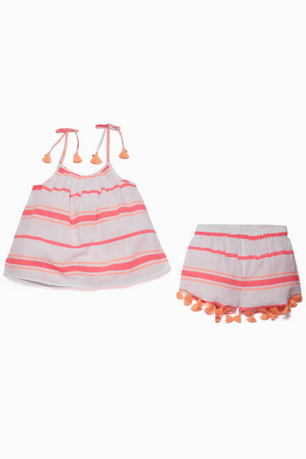 hover state of Pink Cotton Short Set