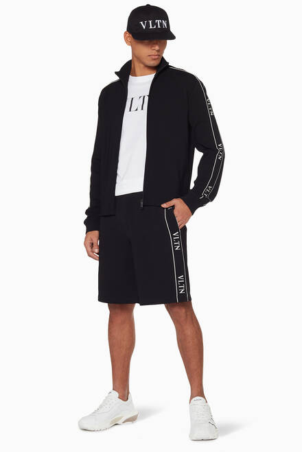 hover state of Black VLTN Jogging Shorts