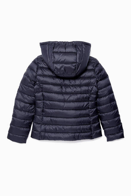 hover state of Navy Iradia Feather Padding Coat