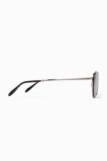 hover state of Silver & Smoke Gradient Sorpasso Sunglasses