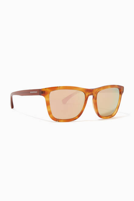 hover state of Rectangular Acetate Sunglasses