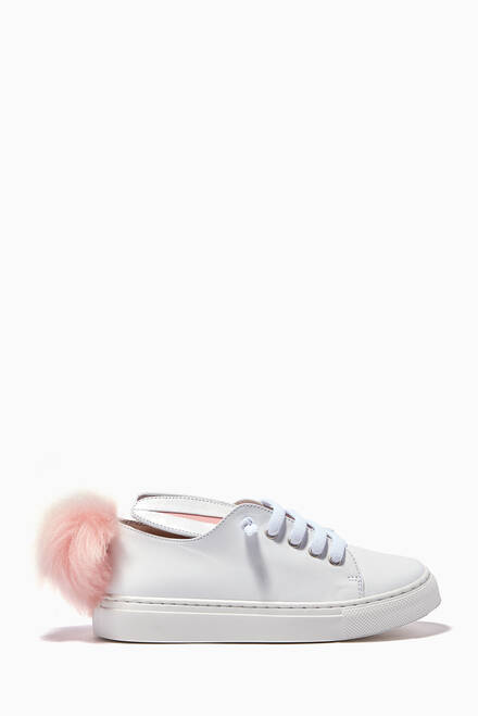 hover state of White Low Top Sneakers