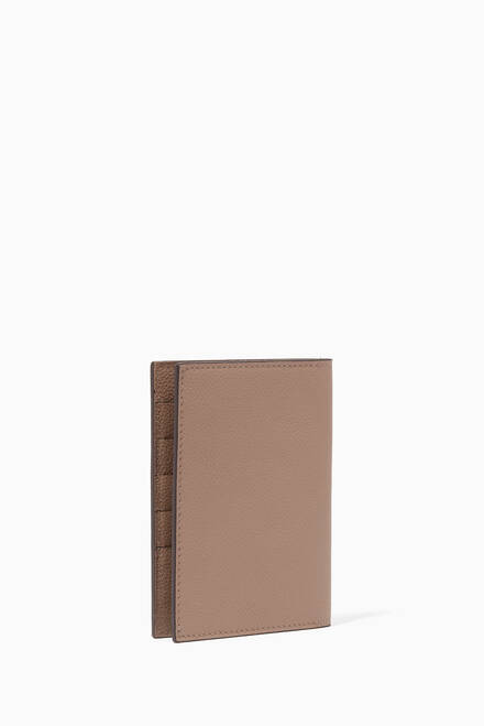 hover state of Grain Leather Passport Cover