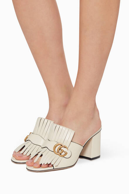 hover state of Double G Fringed Sandals