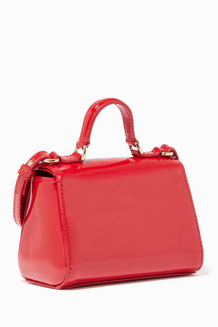 hover state of Patent-Leather Top Handle Bag