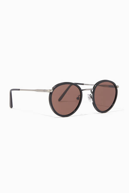hover state of Carlito Stainless Steel & Acetate Sunglasses
