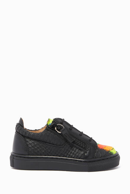 hover state of Rainbow Sketch Jr Sneakers