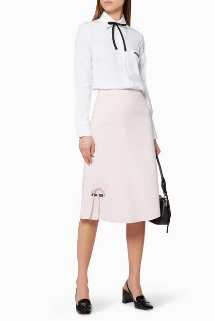 hover state of Jersey Bow Detail Midi Skirt