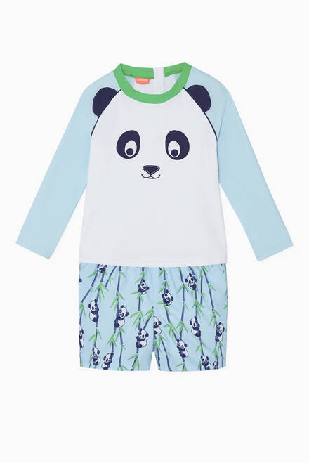 hover state of Panda Long-Sleeved Rash Vest