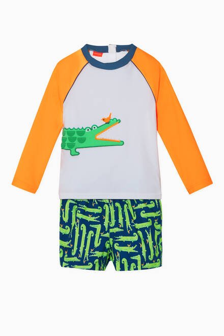 hover state of Crocodile Long-Sleeved Rash Vest