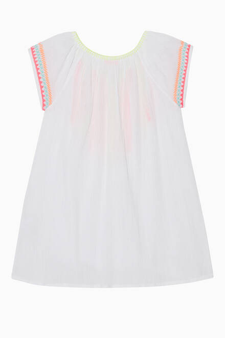 hover state of Embroidered Cotton Dress