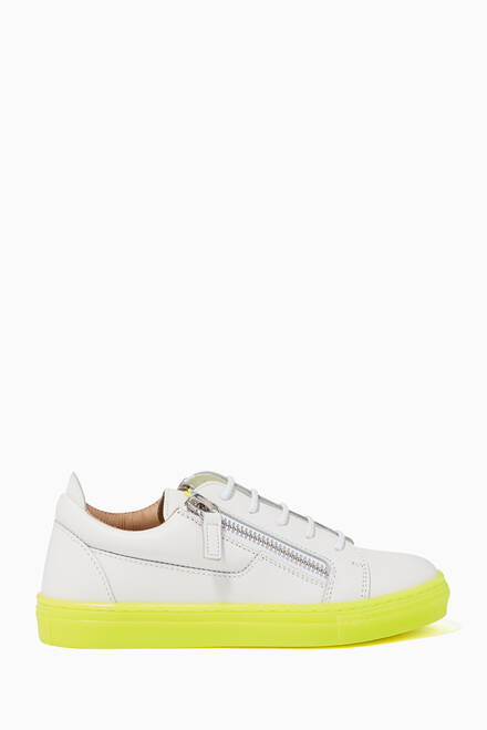hover state of Frankie Fluo Leather Sneakers