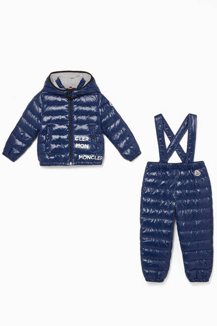 hover state of Puffed Jacket & Dungaree Set