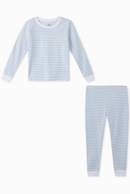 hover state of Lulu Striped Jersey Pyjama Set