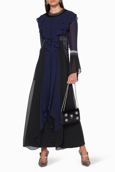 hover state of Long Sleeves Maxi Dress