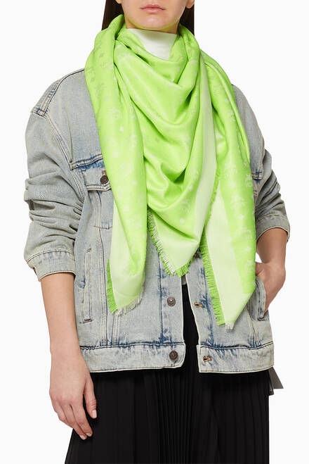 hover state of Monogram Jacquard Lurex Scarf