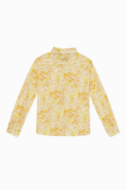 hover state of Floral Print Cotton Shirt