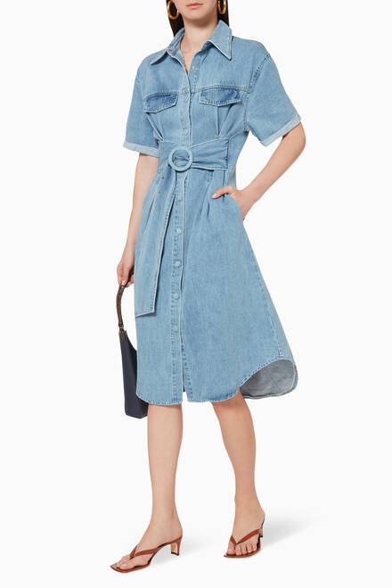 hover state of Slate Denim Dress