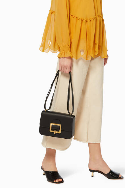 hover state of Janelle Leather Shoulder Bag