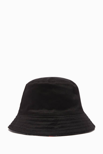 hover state of Big Logo Bucket Hat in Cotton