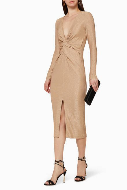hover state of Sanctuary Shimmer Knot Dress