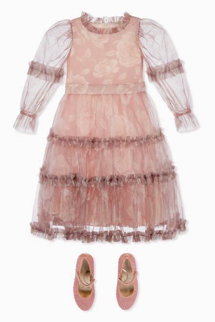 hover state of Floral Tulle Dress