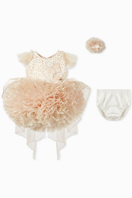 hover state of Butterfly Tulle Puff Dress & Bloomers