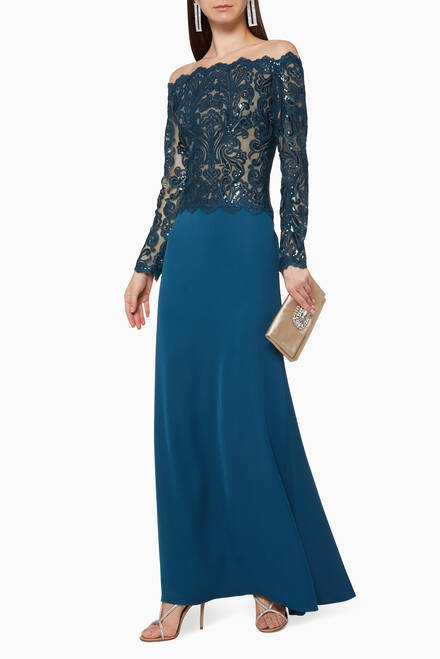 hover state of Lace Sequin Gown