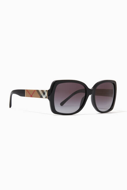 hover state of Vintage Check Butterfly Frame Sunglasses