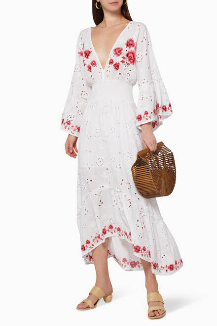 hover state of Shadi Embroidered Dress