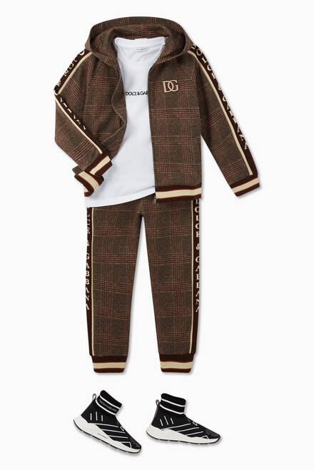 hover state of Checked Jersey Sweatpants