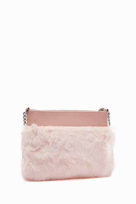 hover state of Faux Fur Crossbody Bag