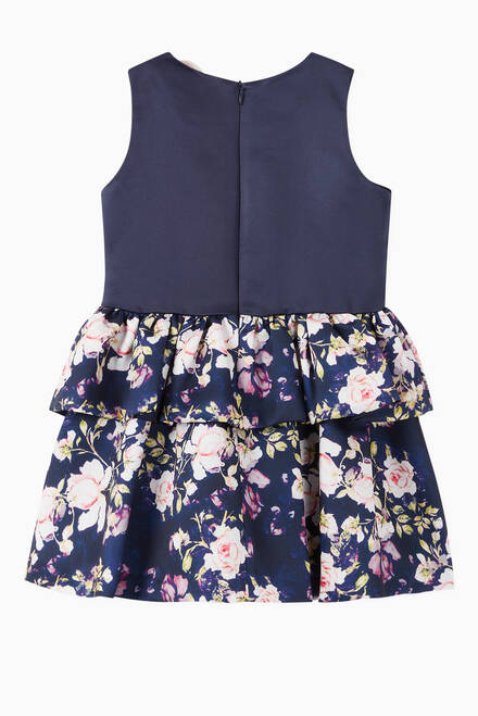 hover state of Frill Floral Print Dress